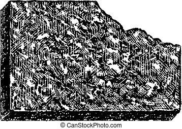 型, 斑岩, engraving.