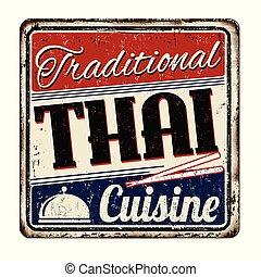 型, 料理, 金属, 伝統的である, 錆ついた, 印, タイ人