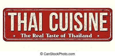 型, 料理, 金属, 錆ついた, 印, タイ人