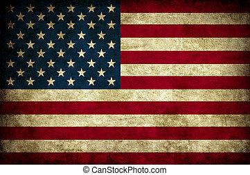 型, 旗, アメリカ