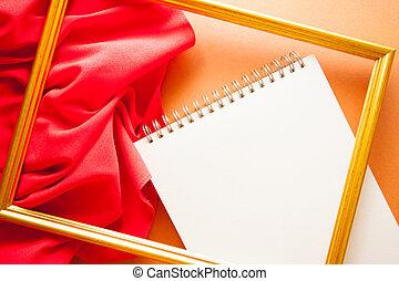 型, 明るい, 背景, ひだのある布, 赤