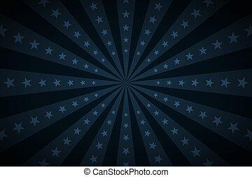 型, 星, ポスター, ベクトル, レトロ, 暗い, サーカス, 背景