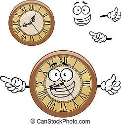 型, 時計, 特徴, 漫画, 隔離された