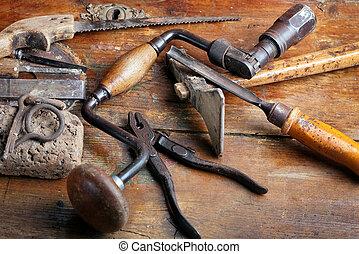 型, 木工, 道具