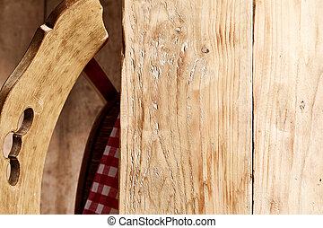 型, 無作法, 木, テーブル, 椅子, ∥あるいは∥, 空