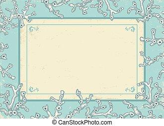 型, 白, corals., カード