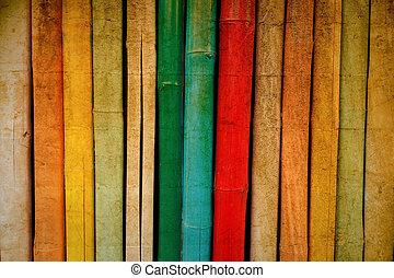 型, 竹, 手ざわり, カラフルである