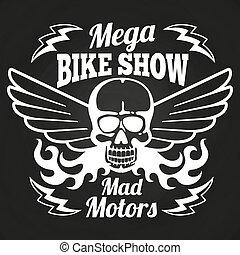 型, 紋章, モーターバイク, ショー