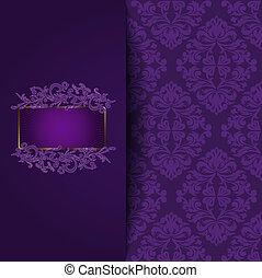 型, 紫色の背景