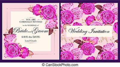 型, 結婚式の招待