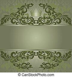 型, 緑の背景