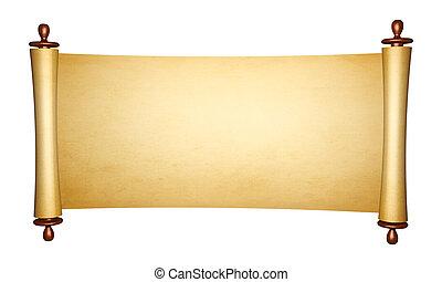 型, 羊皮紙ロール
