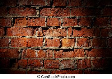 型, 背景, 壁, れんが