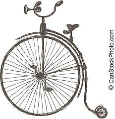 型, 自転車, ∥で∥, 大きい, 車輪