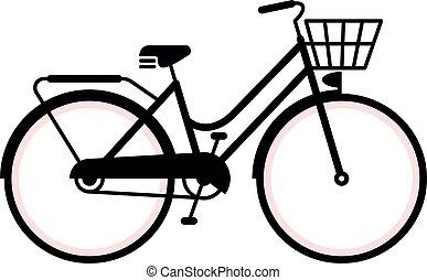 型, 自転車, シルエット