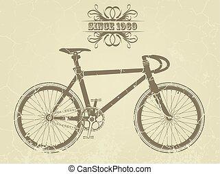 型, 自転車, スポーツ, イラスト