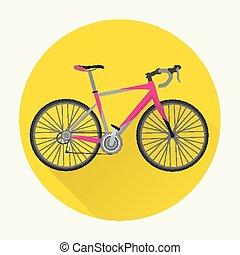 型, 自転車, ベクトル, デザイン