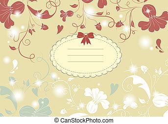 型, 花, カード