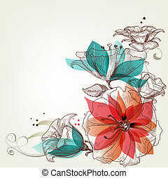 型, 花, 背景