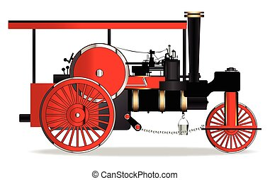 型, 蒸気のローラー