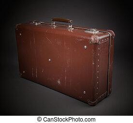 型, 袋, ブラウン, スーツケース