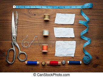 型, 裁縫, 道具, 背景