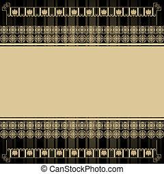型, 要素, デザイン, 背景, エジプト人