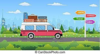 型, 都市, 自動車, バックグラウンド。