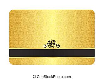 型, 金のカード, パターン