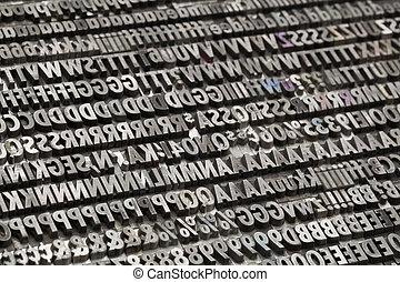 型, 金属, 数, 手紙