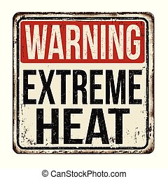 型, 金属, 熱, 印, 錆ついた, 警告, 極点