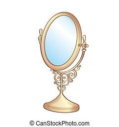 型, 金, 鏡