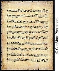型, 音楽シート
