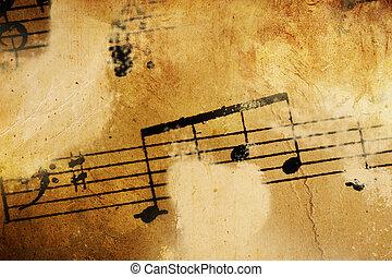 型, 音楽, 背景