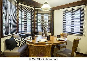 型, 食堂, ∥で∥, 窓, クラシック, スタイル