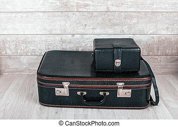 型, 黒, 2, スーツケース