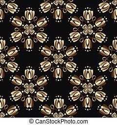 型, 黒, seamless, パターン