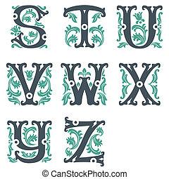 型, 3, 部分, alphabet.