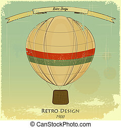 型, balloon, レトロ, カード