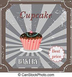 型, cupcake, デザイン, ポスター