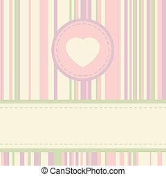 型, eps, バレンタイン, 8, template., カード
