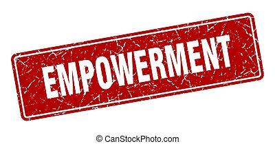 型, label., empowerment, stamp., 赤, 印