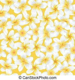 型, pattern., seamless, トロピカル, バックグラウンド。, ベクトル, 花