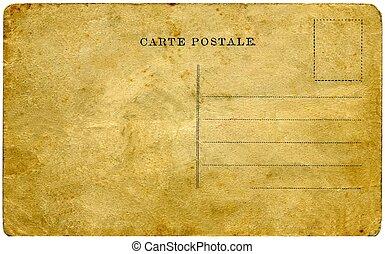型, postcard.