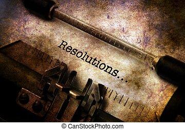 型, resolutions, タイプライター