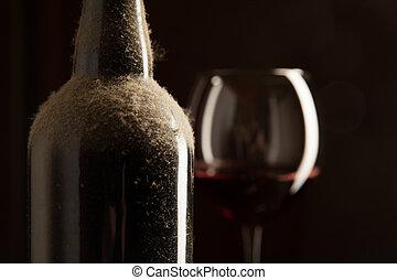 型, wineglass, びん, ワイン