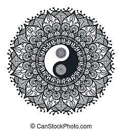 型, yang, mandala, yin