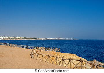 埃及, 沙质的海滩, coast., 海