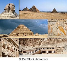 埃及, 里程碑, 拼贴艺术, -, 重要部分