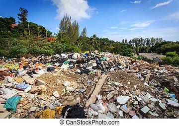 埋立て地, 山, 国内, ごみ